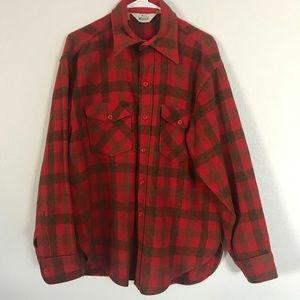 Vintage Woolrich Red Flannel Shirt Size L.